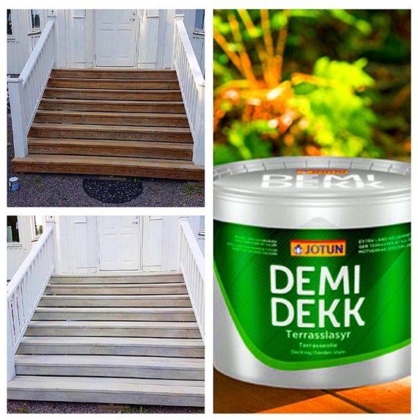 demi deck, trapport före och efter