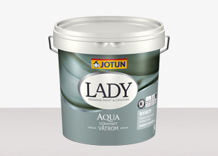 LADY Aqua är en våtrumsfärg som du hittar på Färghem