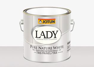 Lady Pure Nature White är en vattenburen vit oljelasyr för tak och vägg inomhus. Finns hos farghem - din lokala färghandel på nätet.