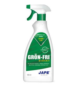 Jape grönfri spray mot påväxt av alger finns hos Färghem din lokala färghandel online