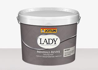 LADY Minerals Revive förvandlar ojämna ytor exempel vävtapet till vackra betongliknande väggar finns hos färhem din lokala färghandel på nätet