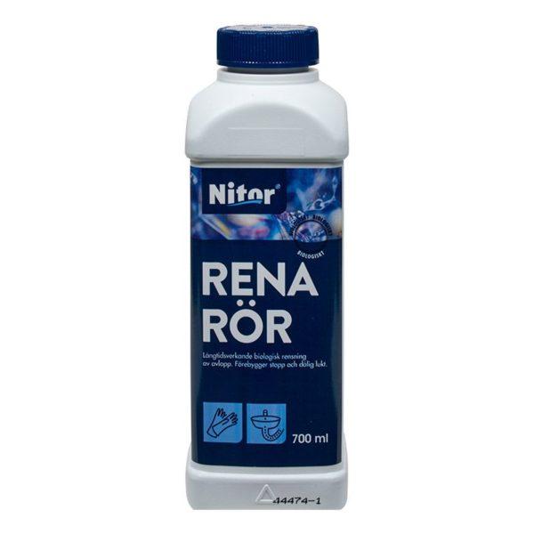 Rena rör från Nitor är ett effektiv mikrobiologiskt avloppsmedel som finns hos färghem din lokala färghandel online